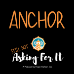 Logo for podcast and link to Anchor