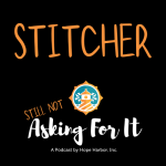 podcast logo with link to stitcher podcasts